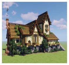 Minecraft Bauwerke, Villa Minecraft, Construction Minecraft, Casa Medieval Minecraft, Images Minecraft, Minecraft House Plans, Minecraft Mansion, Easy Minecraft Houses, Minecraft House Tutorials