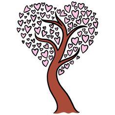 Trees Drawing Tutorial, Drawing Tutorials, What Is A Heart, Cartoon Heart, Secret Valentine, Popular Cartoons, Heart Tree, Coloring Tutorial, Small Heart