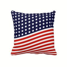 Classic Americana - Flag Pillow for July 4th