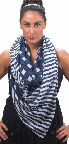 Navy Vogue Scarf - AC Treasures | Scott's Marketplace--20% off your entire order with code: Winter20