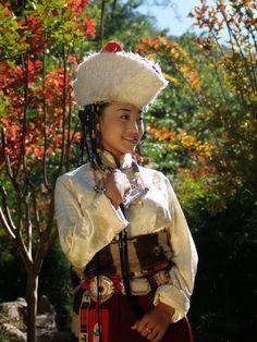 Tibetan traditional (regional) female  costume