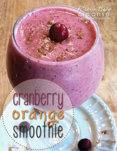 Cranberry Orange Smoothie. #vegan