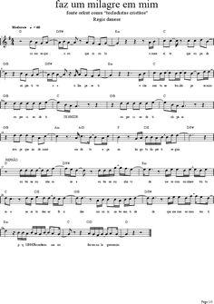 Partitura - Faz um milagre em mim - Regis Danese Violin Sheet Music, Sheet Music Book, Guitar Songs, Guitar Chords, Mundo Musical, Easy Piano, Music Store, Music Theory, Film Quotes