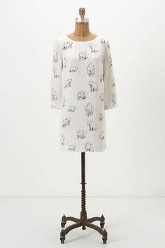 dress with bear pattern by leah goren.