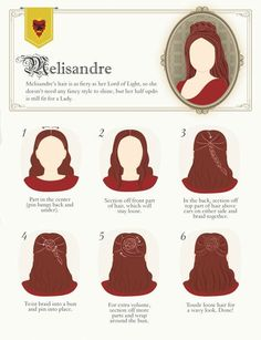 Game of Thrones Hairstyles via True Blue Me and You: DIYs for Creative People