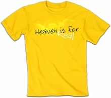 Heaven Is For Real Christian Shirt: Adult