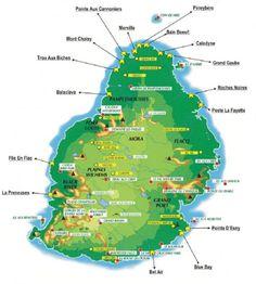 ile maurice carte touristique -