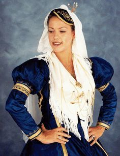 Traditional costume from the island of Lefkada, Greece Greek Traditional Dress, Traditional Outfits, Crete Island Greece, Costumes Around The World, Folk Dance, Greek Clothing, Folk Costume, People Around The World, Beautiful People