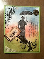 YelowFlowers Garden  umbrella man card
