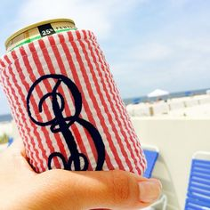 """Does the """"B"""" on this koozie stand for """"Block Island""""... or """"beer""""?"""