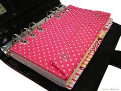 Filofax Personal Tasche Kalender Stiftetasche Zubehörtasche Pink Polka Dots