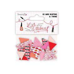 Bunting /& Twine Pack Dovecraft Kiss and Make Up Lips Paper Craft Collection