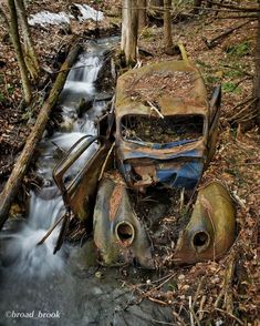 Abandoned Cars, Abandoned Places, Ford V8, Rust In Peace, River, Urban Exploration, Street Rods, Photography, Beautiful