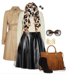 Plus Size Outfit Idea How to Wear Plus Size Leather Skirts Alexa Webb Source by ideas gorditas Plus Zise, Mode Plus, Plus Size Fashion For Women, Plus Size Women, Skirt Outfits, Cute Outfits, Work Outfits, Mode Chic, Curvy Girl Fashion