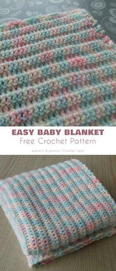 Newborn Crochet Patterns, Baby Afghan Crochet, Baby Afghans, Afghan Crochet Patterns, Crochet Blankets, Baby Blankets, Crochet Ideas, Crochet Projects, Scrap Yarn Crochet