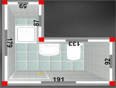 Baño con Ducha: El plato de ducha más pequeño: 60x60 Ontario-N de Roca