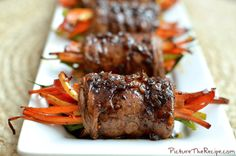 Rolls for Buffet - Beef rolls with sweet peppers