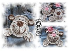 Crochet PATTERN 20 - Applique Monkey