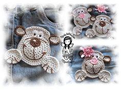 Crochet PATTERN 20  Applique Monkey by NellagoldsCrocheting, €3.15