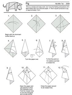 origami varkentje uitleg - Google zoeken | Origami ... - photo#9