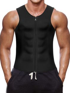 70e0856445 Trainer Weightloss Neoprene Workout Slimming - Black Neoprene Slimming Vest  - CK183LOGSYM