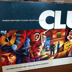 Clue night at Rogers. Teens play Clue and search the library for clues.