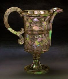 Gujarat, India, Ewer, Mother of pearl, brass, ca. 1580-1620.