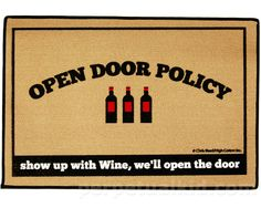 OPEN DOOR WINE POLICY