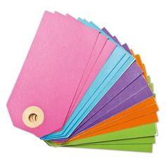 Gebruik een kaartje om een cadeautje te voorzien van een unieke boodschap. 15 gekleurde kaartjes in 1 verpakking.