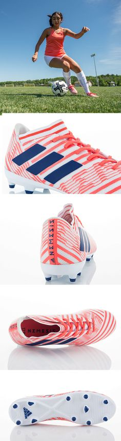 Fit for speed, fit for agility — become unstoppable during every match in the adidas Nemeziz women's soccer cleats.