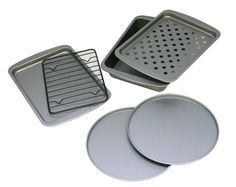OvenStuff Non-Stick 6-Piece Toaster Oven Baking Pan Set $20.17
