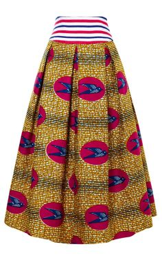 Shop M'O Exclusive: Primula Waxed Cotton Skirt by Stella Jean Now Available on Moda Operandi