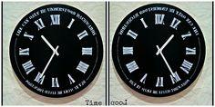 Wooden reversed clock