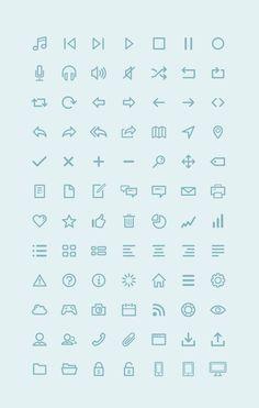 Free Icon Set (Photoshop, Illustrator, Webfont) by Amit Jakhu