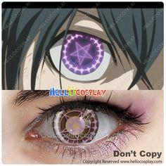Black Butler Cosplay Ciel Phantomhive Contact Lense