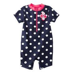 Just One You® by Carter's® Infant Girls' Polka Dot Swim Rashguard