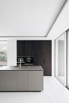Home Interior Salas Kitchen Dinning, Home Decor Kitchen, Home Kitchens, Minimalist Kitchen, Minimalist Interior, Modern Kitchen Design, Interior Design Kitchen, Bulthaup Kitchen, Style Loft