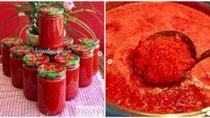 Kışlık Domates Sosu Tarifi Hot Sauce Bottles, Pizza, Jar, Food, Essen, Yemek, Jars, Meals