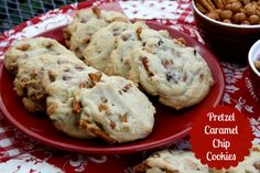 Mommy's Kitchen - Country Cooking & Family Friendly Recipes: Pretzel Caramel Chip Cookies & A Survey