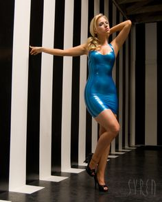 LRCiRL - Latex/Rubber Clothing in Regular Life, syrenlatex:   Our latex Halter Dress modeled by...