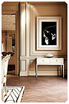 The Italian Art Deco Inspired Mirrored Topped Console is simply exquisite. This remarkable piece makes a stunning statement for any living space. Impeccably executed by. Luxury Home Decor, Luxury Interior, Luxury Homes, Interior Design Living Room, Living Room Designs, Living Spaces, Interiores Art Deco, Plafond Design, Contemporary Interior