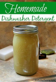 Tired of spending so much money on dishes? This homemade dishwasher detergent is cheaper, healthier for your family and works even better! You'll never buy store bought again!