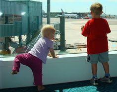Flying with kids - how to calm their fears.