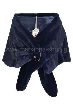Μπλε γούνινη εσάρπα Faux Fur, Blazer, Coat, Jackets, Shopping, Down Jackets, Sewing Coat, Blazers, Peacoats