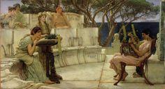 Sappho and Alcaeus - Lawrence Alma-Tadema - Wikimedia Commons