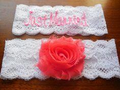 Monogrammed Garter Monogram Garter Wedding by BloomsandBlessings, $28.88