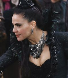 Evil Queen dress details, and necklace