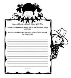 Second Grade Reading Street story Horace and Morris but Mostly Dolores Quick Write. This is to be given to students before reading the selection. T...