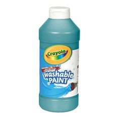 Crayola Washable Paint combines vibrant color with easy washability. Children can express themselves freely because Crayola Washable Paint cleans up with just soap and water. Crayola Pens, Plastic Squeeze Bottles, Turquoise Painting, Washable Paint, Tempera, Paint Colors, Vibrant Colors, Arts And Crafts, Soap