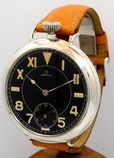 1911 — OMEGA Pocket Watch Conversion To Wrist Watch — Round